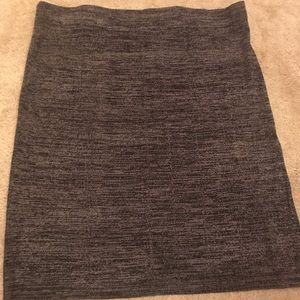 Marled sweater pencil skirt